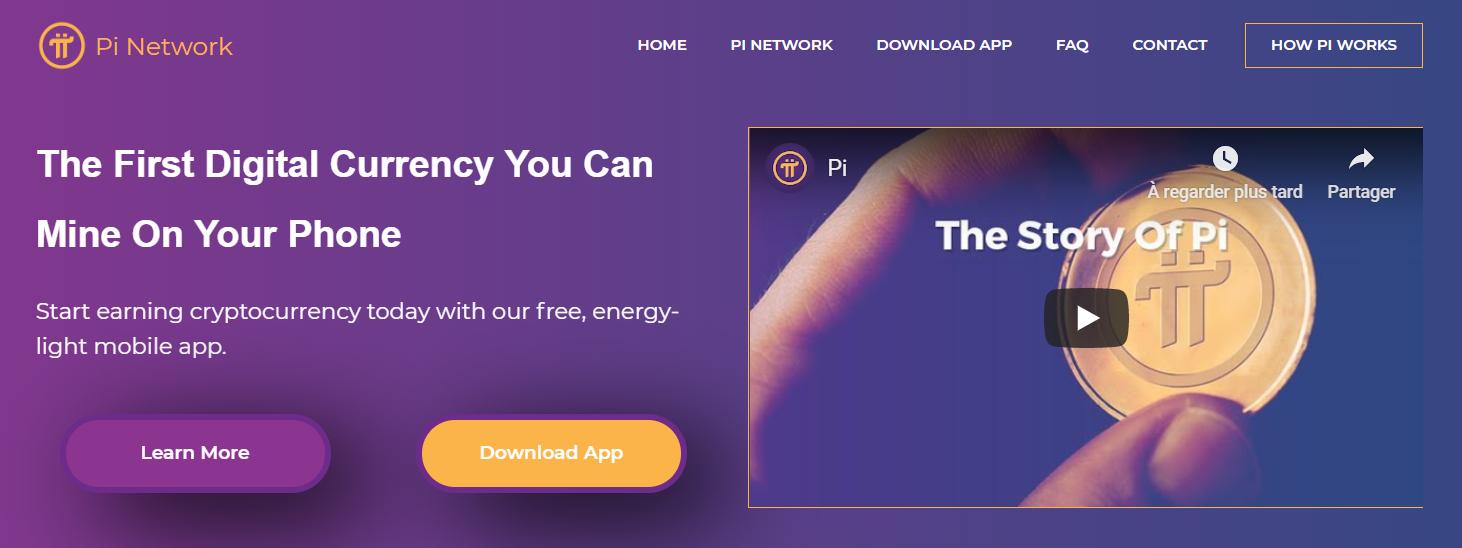 site web du projet pi network