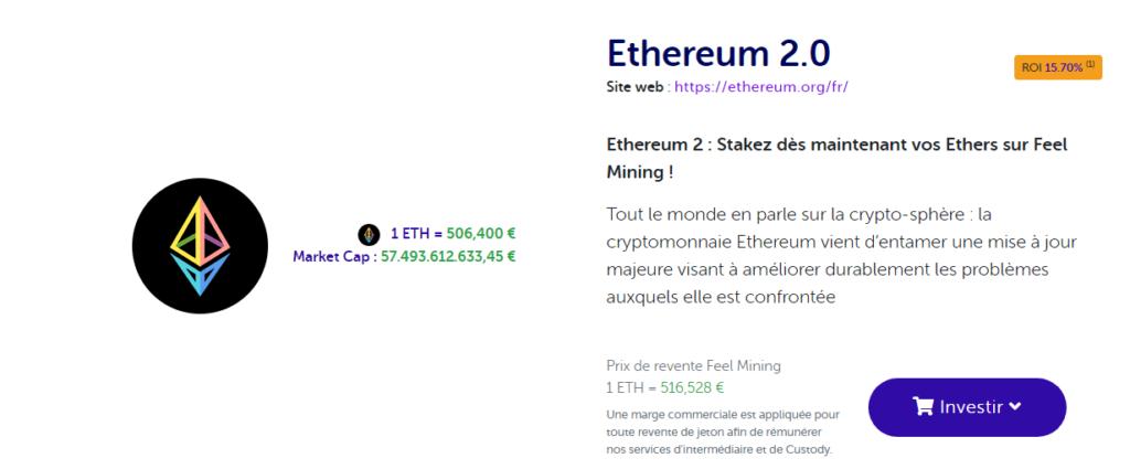 15.7% de récompenses de staking Ethereum 2 sur Feel Mining au démarrage du projet